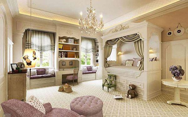 Фото: детская комната в английском стиле