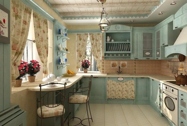 Фото: кухня загородного дома в стиле прованс