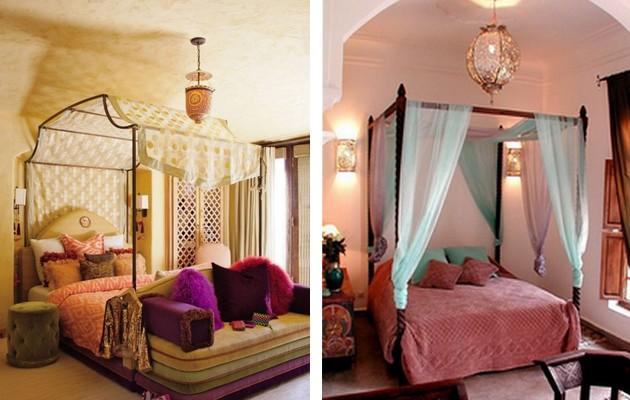 Фото: оформление кроватей балдахинами