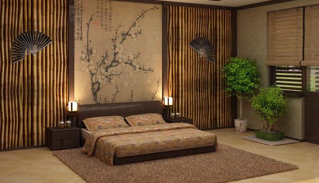 """Фото: лампы """"акари"""" в интерьере спальни"""