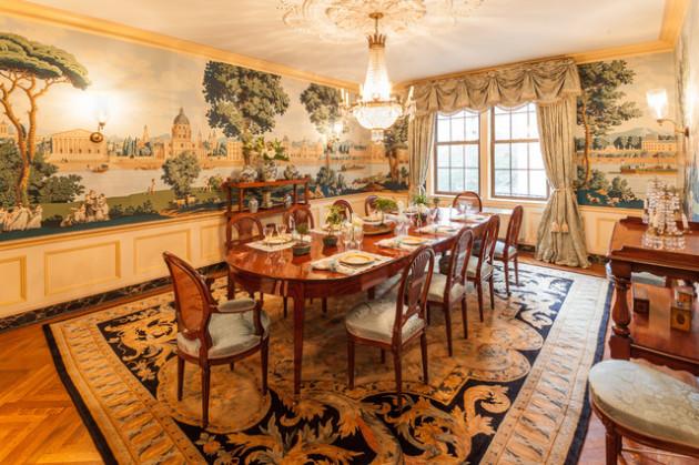 Фото: фрески в интерьере столовой