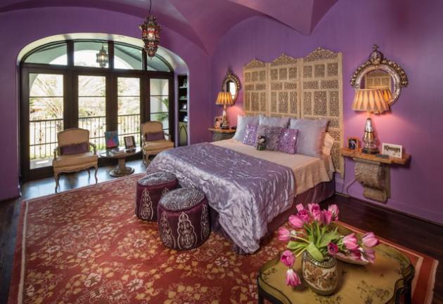 Фото: спальня в лиловых тонах