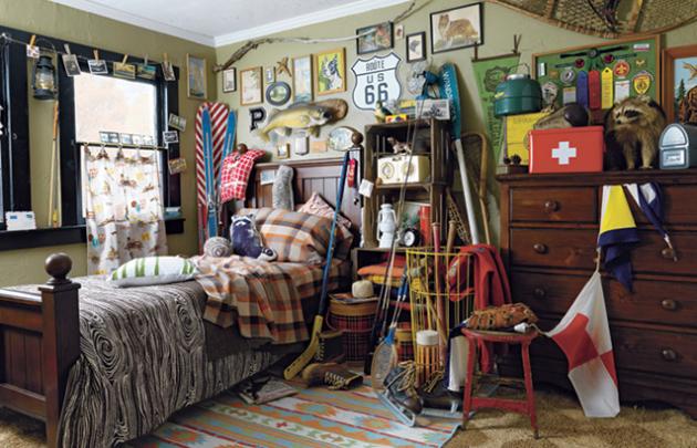 Фото: детская комната в стиле китч