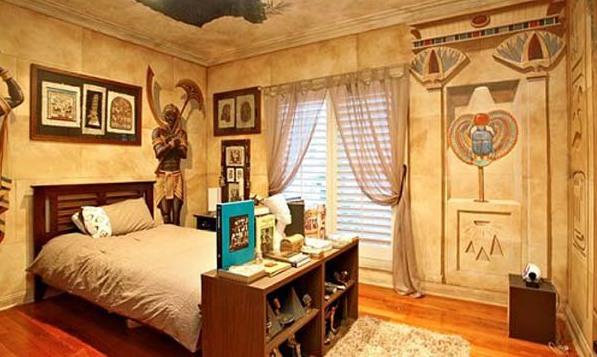 Фото: детская комната в египетском стиле