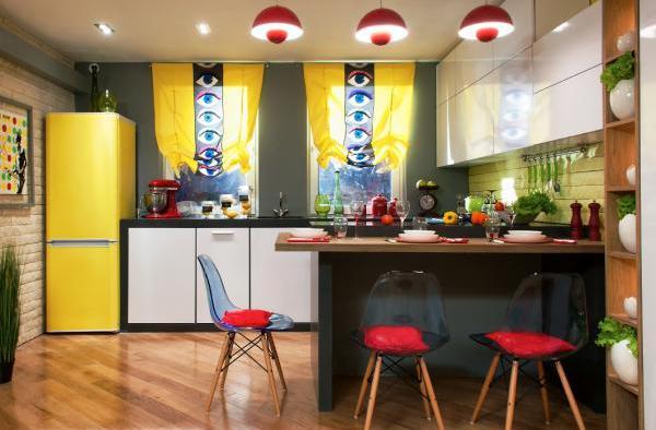 Фото: кухня с барной стойкой