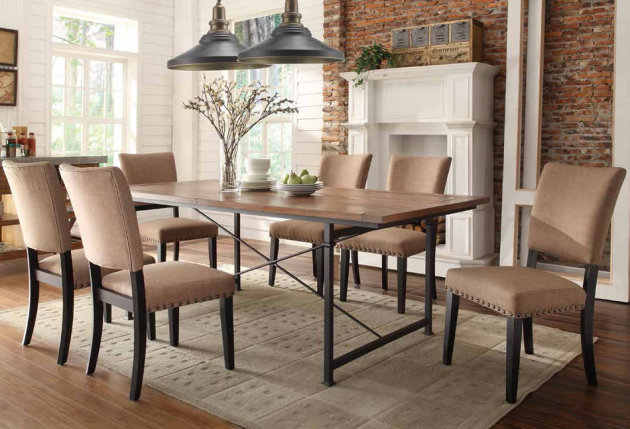 Фото: столовая в индустриальном стиле