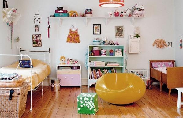 Фото: детская комната в стиле винтаж