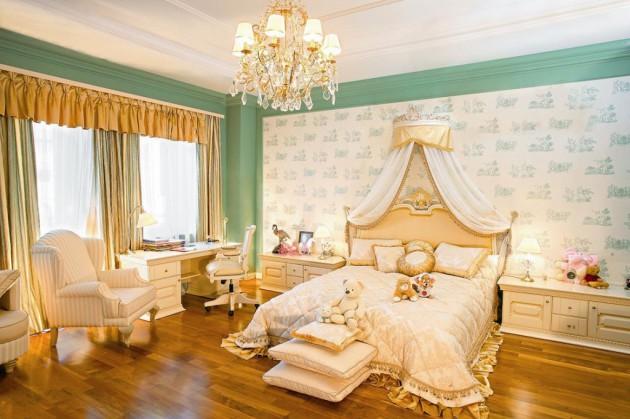 Фото: детская комната в стиле ампир
