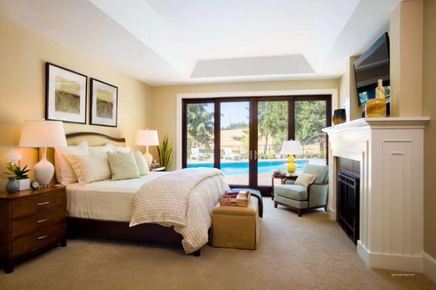 Фото: спальня с выходом на террасу