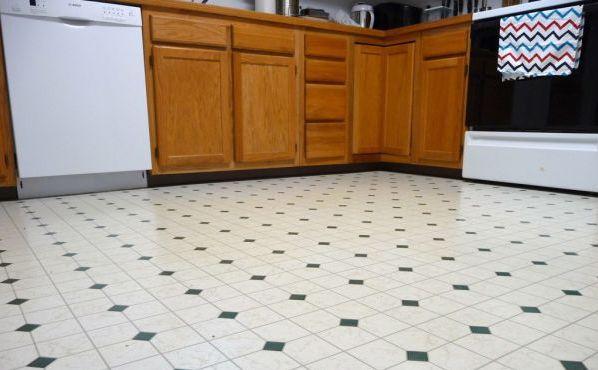 Фото: линолеум в интерьере кухни