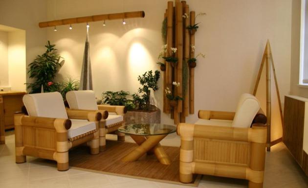 Фото: бамбуковая мебель