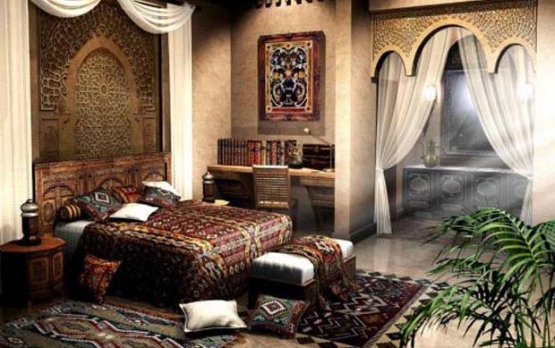 Фото: спальня в арабском стиле