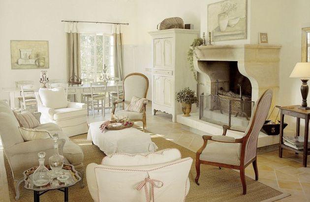 Фото: гостиная в стиле прованс