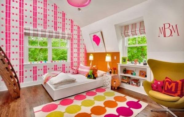 Фото комната для девочки на мансарде