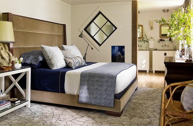 Фото: санузел в интерьере спальни