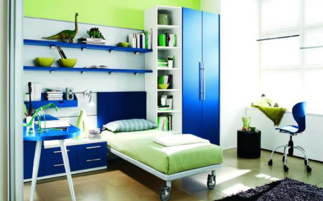 Фото: салатовый и синий чаще всего применяют в детских комнатах