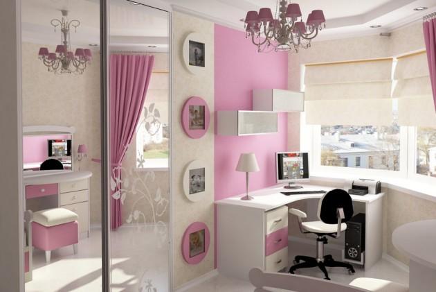 Фото: шкаф с зеркальными дверцами