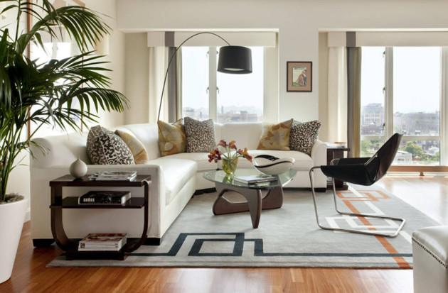 Фото: угловой диван овальной формы