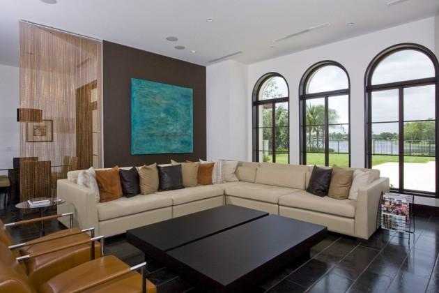 Фото: классическая форма углового дивана