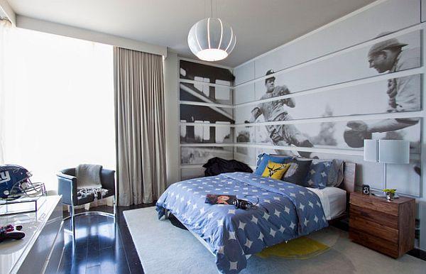 Фото: модульная картина спортивной тематики идеально впишется в интерьер комнаты для мальчика