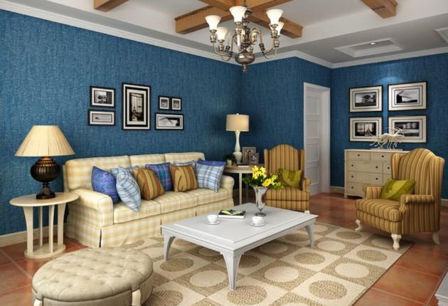 Фото: гостиная в средиземноморском стиле
