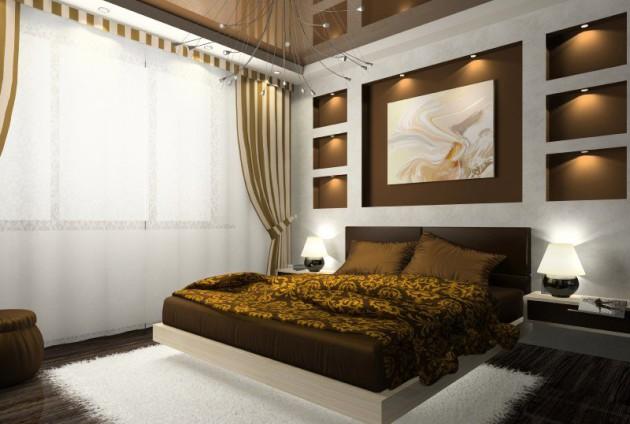 Фото: декорирование стен нишами с точечной подсветкой