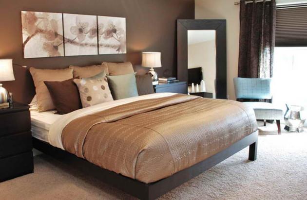 Фото: модульная картина в интерьере спальни
