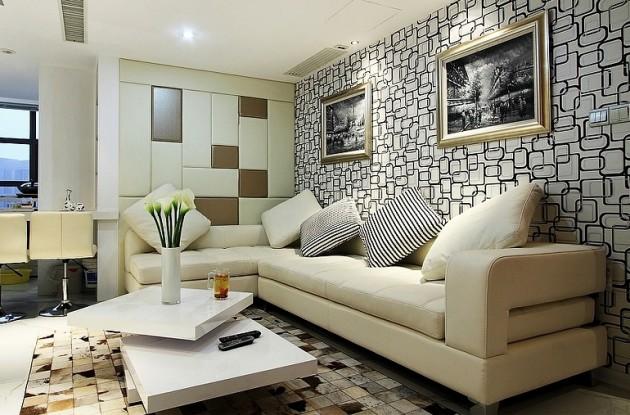 Фото: цельный угловой диван