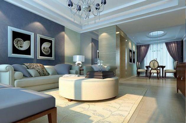 Фото: картины темных цветов идеально впишутся в интерьер больших комнат