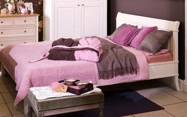 Фото: сочетание коричневого и розового позволит сделать интерьер элегантным и стильным