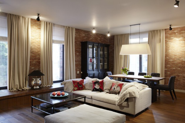 Фото: гостиная в стиле фьюжн