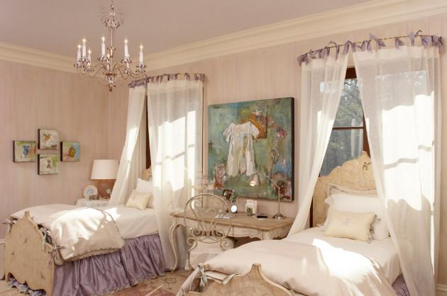 Фото: французский стиль в интерьере детской комнаты для двоих детей