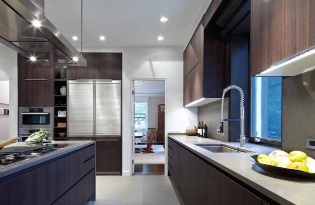 Фото: кухня является наиболее популярным помещением, где используется венге