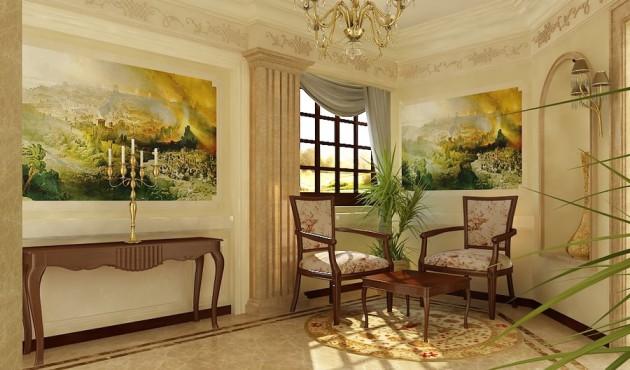 Фото: фрески в прихожей