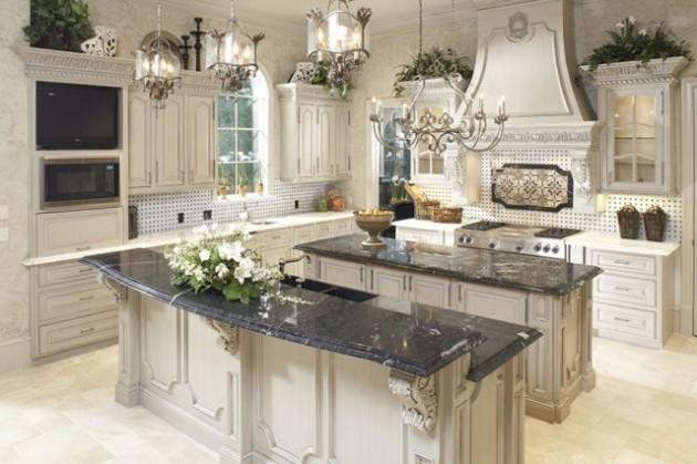 Фото: декорирование кухни живыми цветами