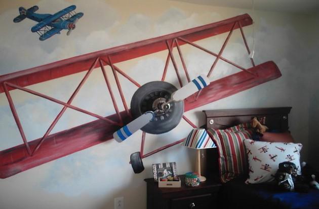 Фото: оригинальное применение фрески в детской комнате