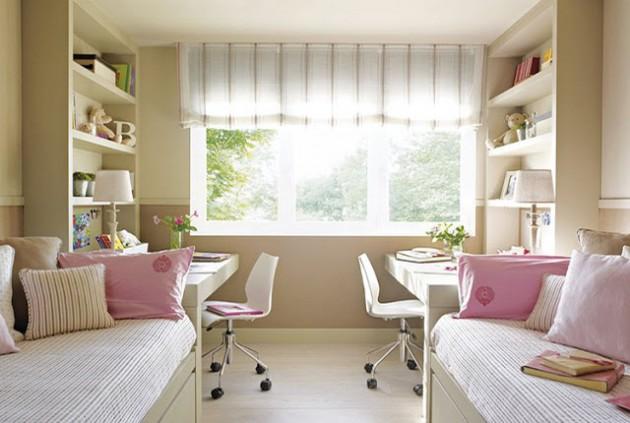 Фото: разделение комнаты на рабочую зону и зону отдыха