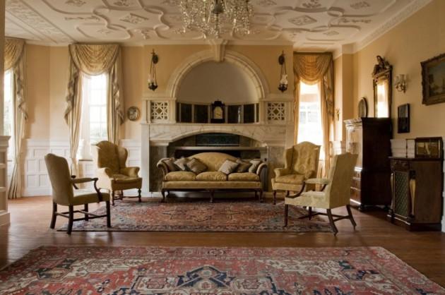 Фото: декорирование потолка лепниной