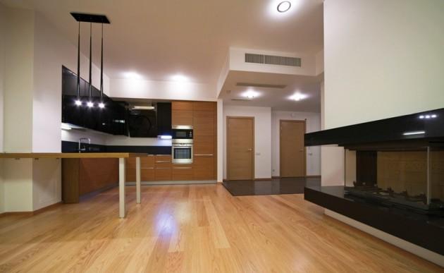 Фото: линолеум, имитирующий деревянное покрытие