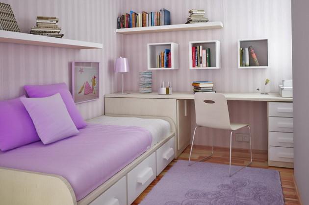 Фото: кровать с ящиками для хранения вещей станет идеальным решением для небольшой комнаты