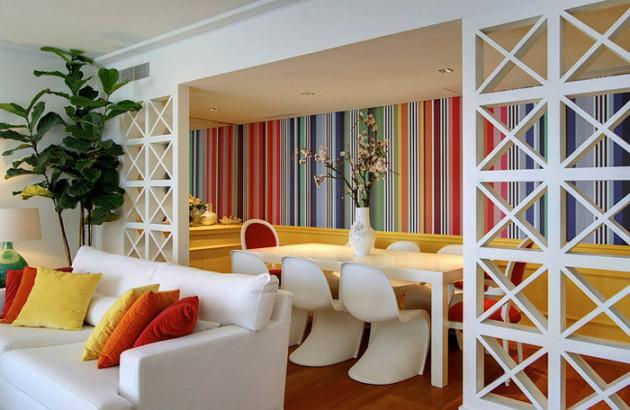 Фото: яркий дизайн столовой от дизайнера Марии Баррос