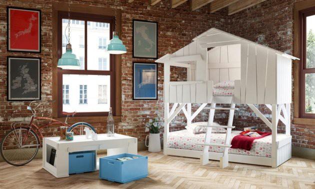 Фото: оригинальная двухъярусная кровать-чердак