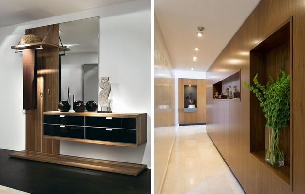 Фото: точечная подсветка мебели и прихожей