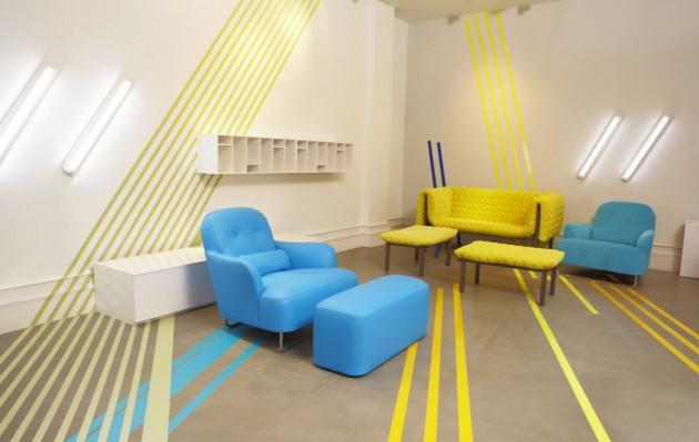 Фото: оригинальный солнечный дизайн гостиной