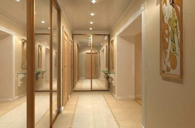 Фото: большое количество зеркал поможет визуально увеличить пространство