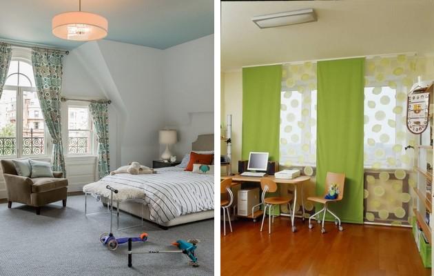 Фото: классические и японские шторы