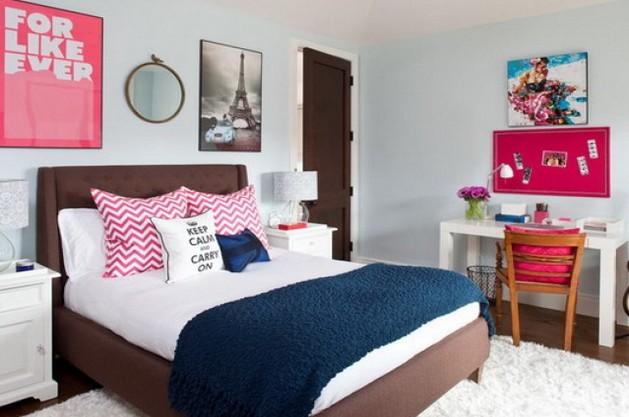 Фото: декор стен в интерьере комнаты для девочки