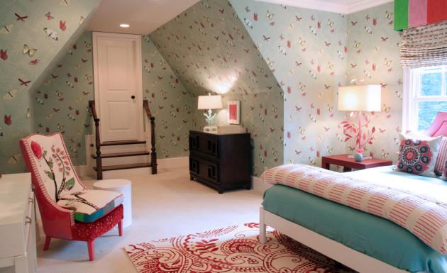 Фото: комната для девочки на мансарде