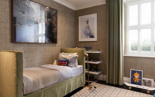 Фото: бамбуковые обои в интерьере комнаты для мальчика