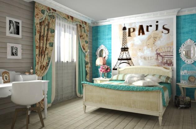 Фото: детская комната для девочки во французском стиле